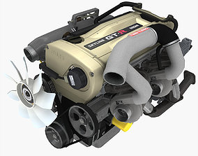 Nissan RB26DETT N1 Spec Nur engine 3D model