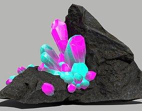 Crystal Set 3D model VR / AR ready