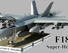 3D model Fighter aircraft F 18 Super hornet