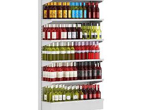 3D model Market Shelf - Wines