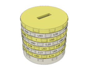 3D printable model Sorting piggy bank USD - L size