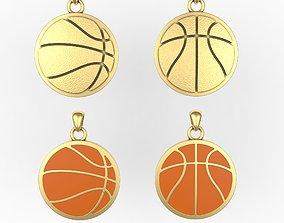 Basketball pendant or pin or broche 3D printable model