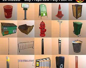 City Props Low Poly Pack 4K 3D asset