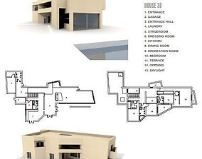 3D model Modern architectural Home