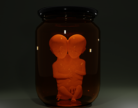 3D print model Siamese Twin Fetus horror