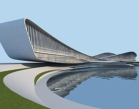 3D model Streamlined architecture