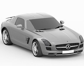 3D model game-ready Mercedes SLS AMG