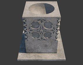 Church Furniture - Stone Baptismal Font 05 3D