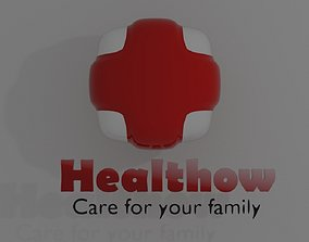 Healthow Logo 3D model