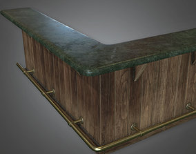 3D asset DVB - Modular Bar Set - PBR Game Ready
