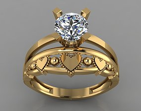 3D printable model GC GOLD TW0142- Diamond ring