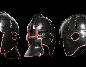 3D asset Late Roman ridge helmet