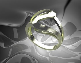 Plain Light Women Ring 3D print model