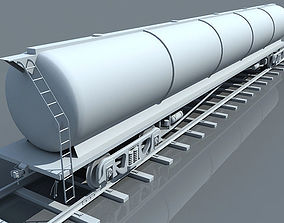 Detailed No Texture Tanker Car 3D