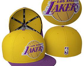 Baseball Cap LA Lakers 3D model
