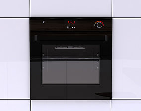 steam Black Wall Oven 3D Model