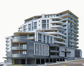 Modern Apartment Building 02 3D model