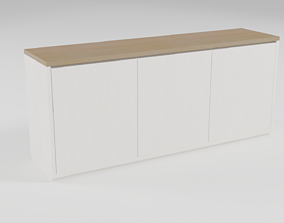 3D model Contemporary wooden sideboard - 002