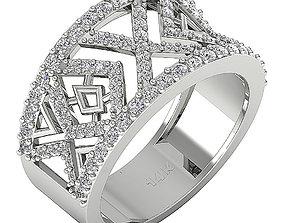 gem 3D print model Fancy Ring