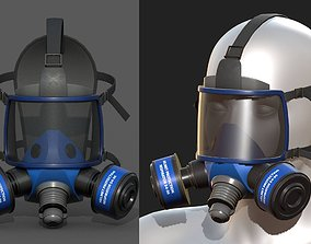 game-ready Gas mask helmet 3d model military