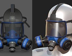game-ready Gas mask helmet 3d model military