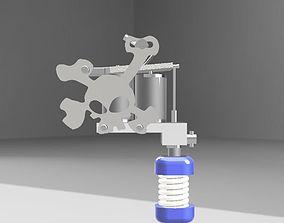 machine tattoo 3D print model