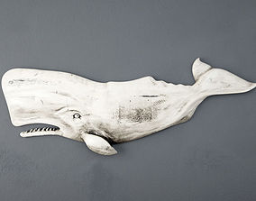 Hand-Carved Sperm Whale 2 3D model