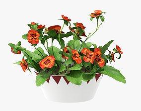 Artificial plant in a pot 01 3D model