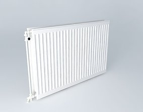 3D Two blades steel radiator H720 L1110