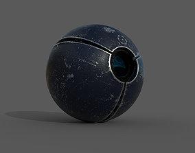 SciFi camera drone - PBR - lowpoly 3D model low-poly