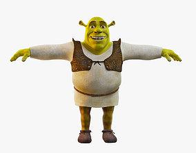VR / AR ready Shrek 3D Model Character no Rig
