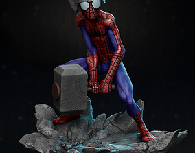 3D printable model Spider Thor statue