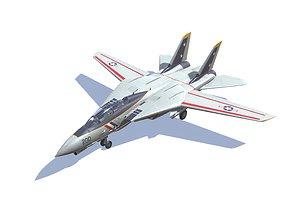 F-14 Tomcat 3D asset