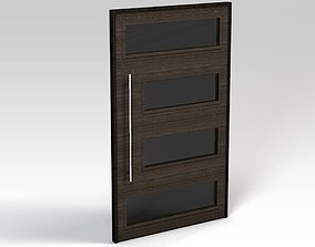 Dark wooden door 3D