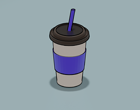 coffee-cup 3D model low-poly coffee cup