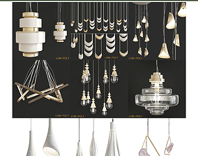 realtime Chandelier collection low poly 3d