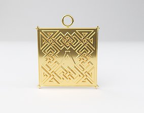 3D print model Celtic pendant letter A