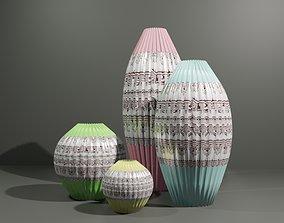 3D model game-ready Vases