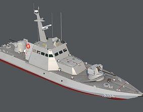 Gyurza-M class artillery boat 58155 3D asset