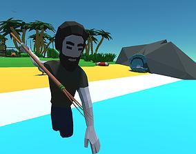 3D asset 9t5 Low Poly Desert Island