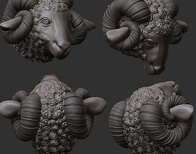 3D print model Ram Statue Sculpture