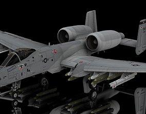 3D A10 Warthog Tankbuster USAF Aircraft