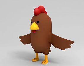 Brown Chicken Character 3D model