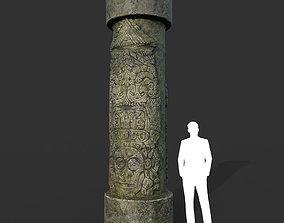 Low poly Mayan Inca Ruin Temple Modular 07-5k 3D asset