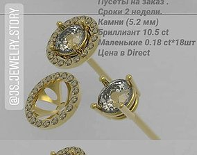 3D printable model stud earrings purses