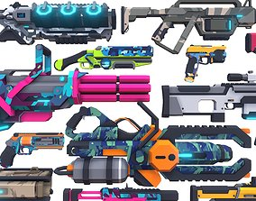 3D asset CB Sci-Fi Gun Pack Complete
