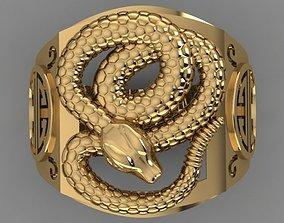 3D print model SNAKE RING rings
