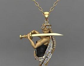 3D printable model leyenda neacklace woman