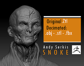 Andy Serkis - Supreme Leader Snoke - Star 3D print model