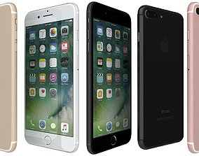 Apple iPhone 7 Plus All Colors 3D